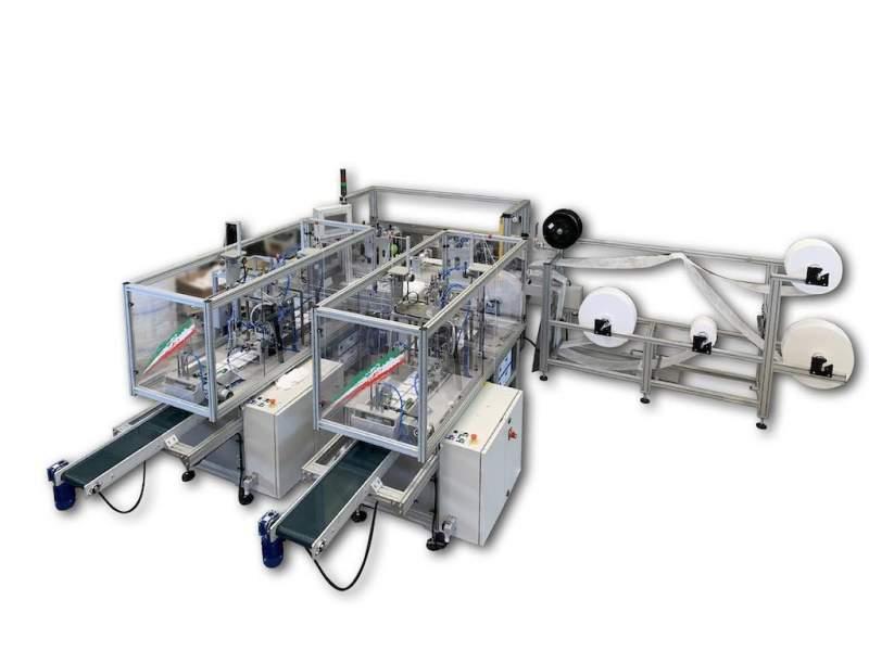 T Mask 2 impianto automatico per la produzione di mascherine chirurgiche con doppia uscita